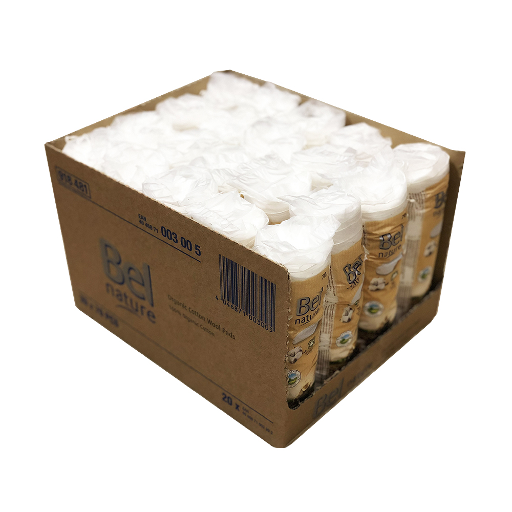 Bel Nature 유기농화장솜(원형/70ea) X20개 1BOX