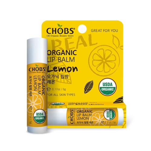 [USDA]CHOBS(찹스)유기농 립밤 레몬(5g)